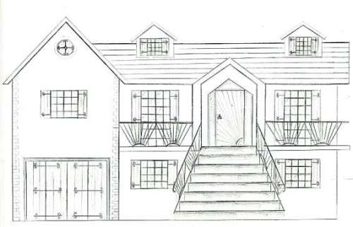 Desenhos Para Colorir modelos de casas