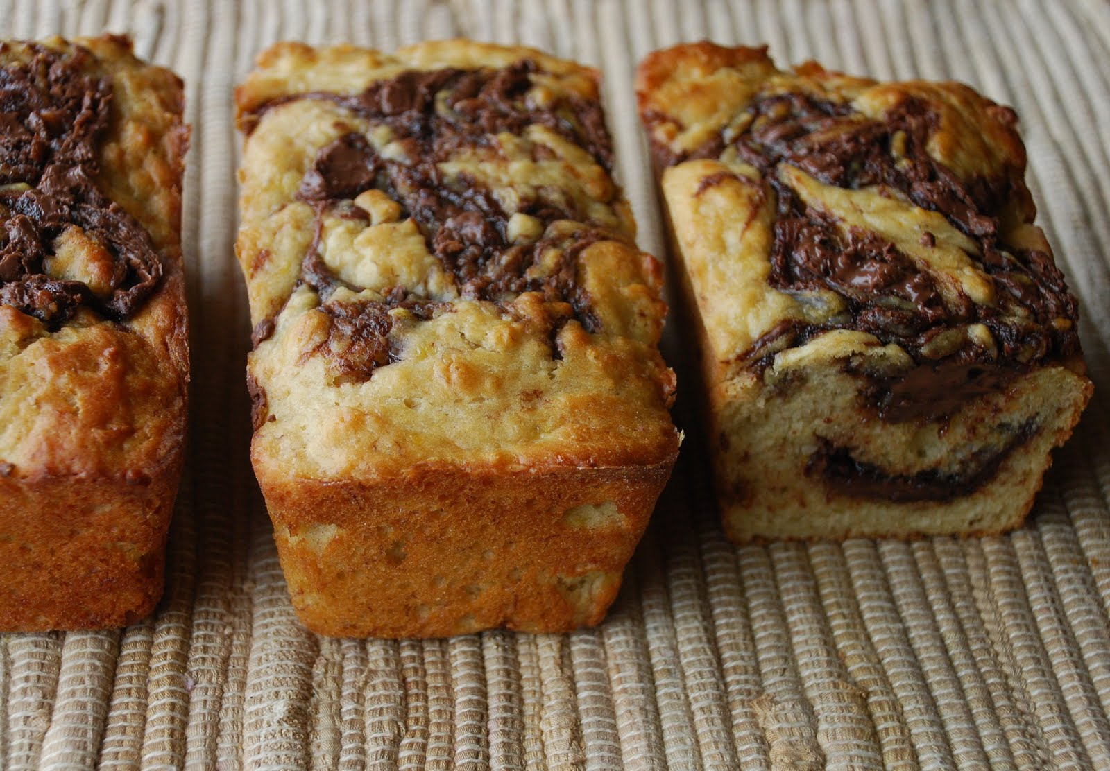 Everyday Insanity...: Banana Nutella Swirl Bread