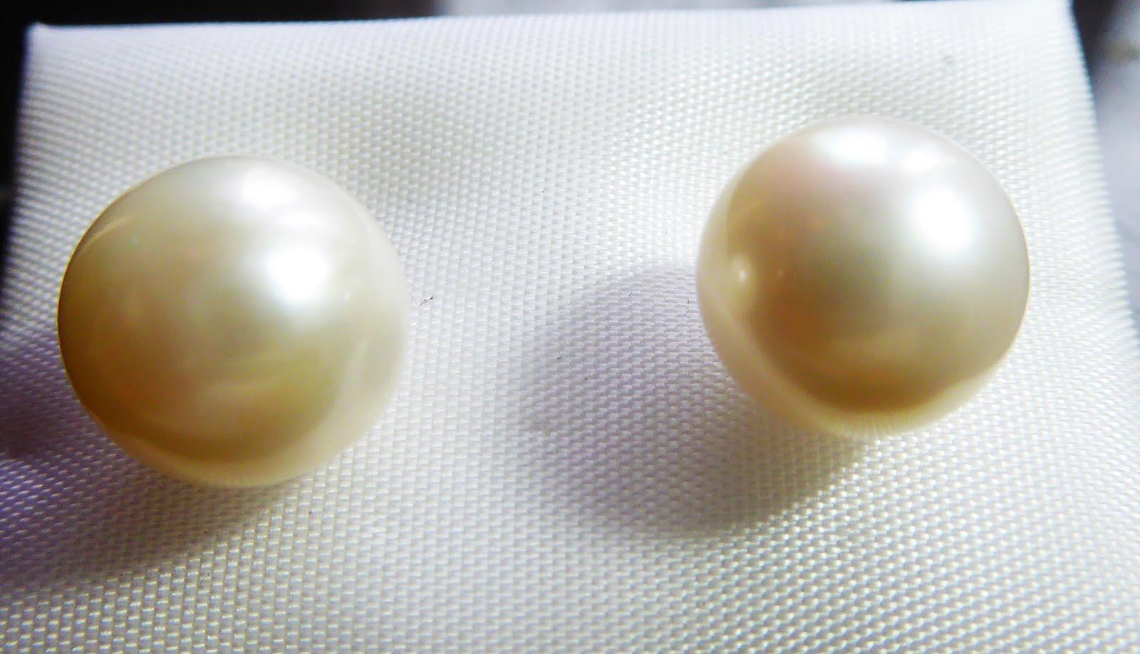 Pendientes de oro perla cultivada