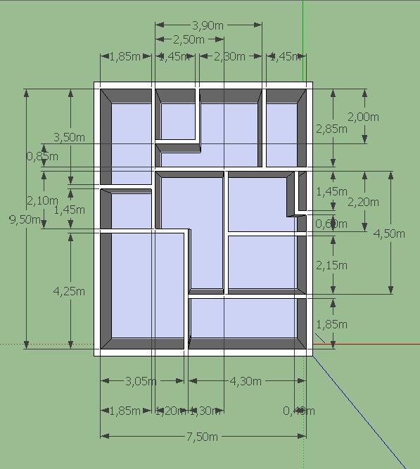 Taniia acotaciones casa 3d for Plano de casa 3d
