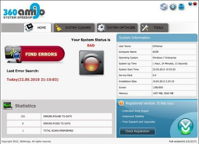 360Amigo System Speedup Pro 1.2.1.6000