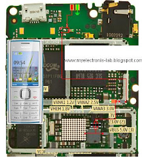 typical wiring circuit diagram of a house circuit diagram of nokia x2 00 electronics circuit application : nokia x2-00 charging ... #6