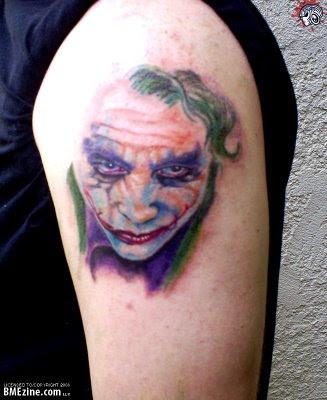 Fotos e  imagens de Tatuagens do Coringa