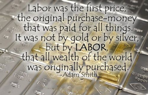 Best Funny Labor Day Quotes Sayings: Labor Day Quotes From Adam Smith With Sayings Labor Was The First Price, The Original Purchase-Money