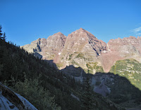 A view of the Maroon Bells