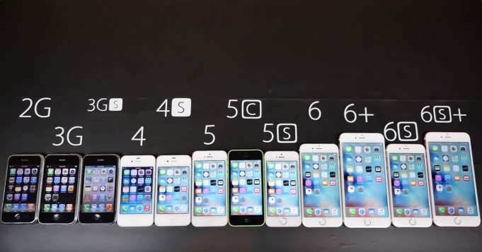 IPhone 2G 3G 3GS 4 4S 5 5C 5S 6 Plus 6S And Are Compared In