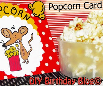 Popcorn Card With Mouse- DIY Birthday Blog