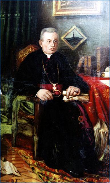 Ks. Jan Wiśniewski, obraz olejny namalował ks. Władysław Paciak ok. 1941 roku. Własność  Muzeum im. Jacka Malczewskiego w Radomiu.