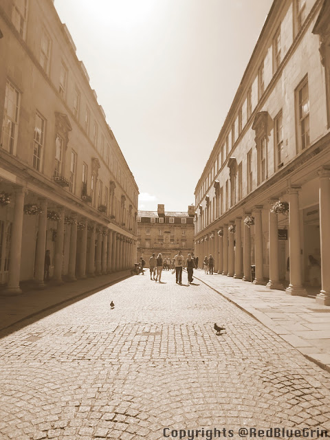 Historical monuments with ancient design at Bath, UK