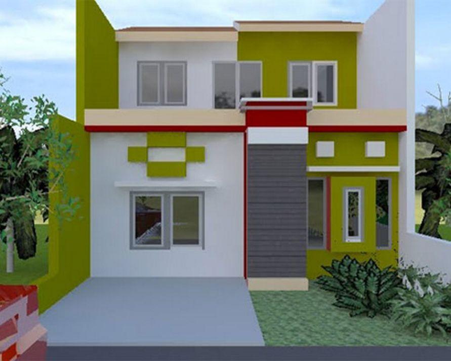 model cat fasad rumah terlihat indah