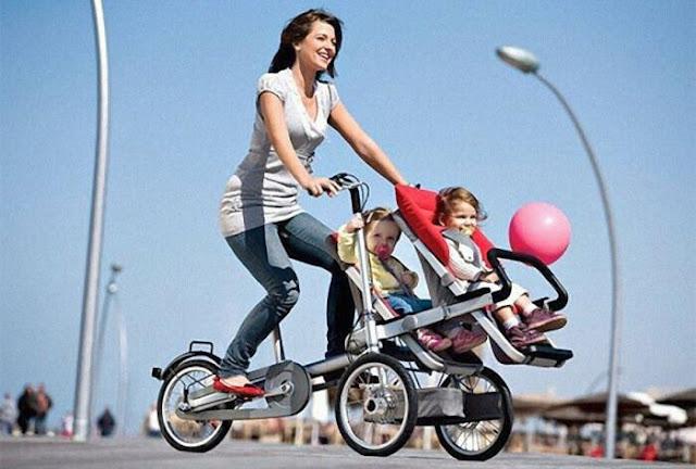 أم - رياضة - أطفال - أسرة