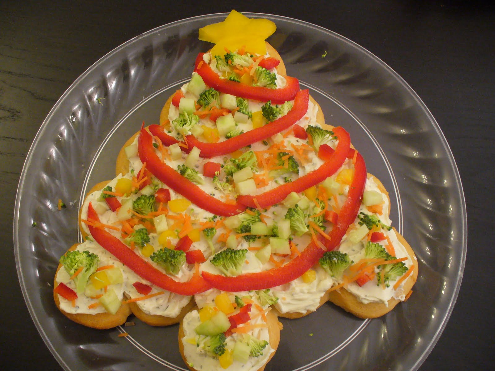 Christmas Tree Veggie Pizza | Recipe Recipes