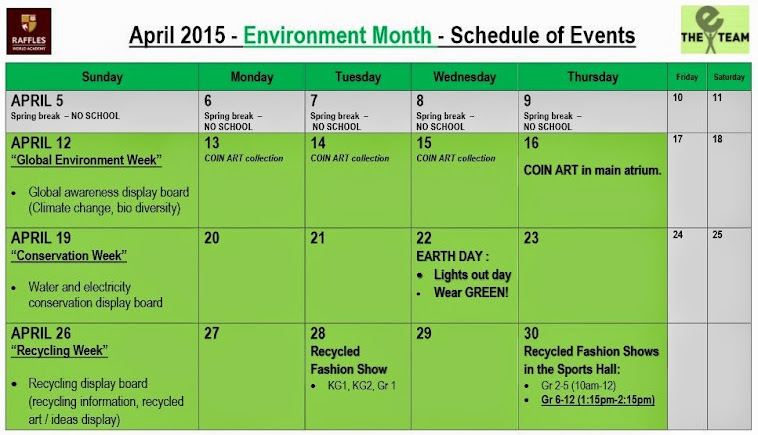 GET EXCITED FOR ECO MONTH AT RWA!