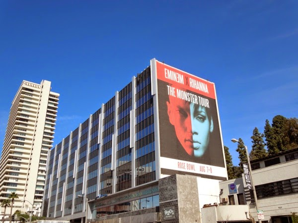 Giant Eminem Rihanna Monster Tour 2014 billboard