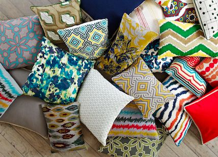 custom, exclusive designed home accent pillows