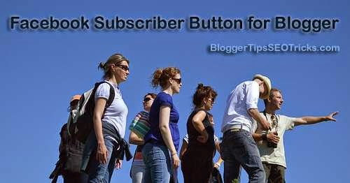 adding facebook follow button to blogger