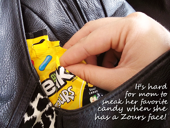 I sneak my favorite sour candy when the kids aren't looking- too bad my #ZoursFace gives me away! #shop