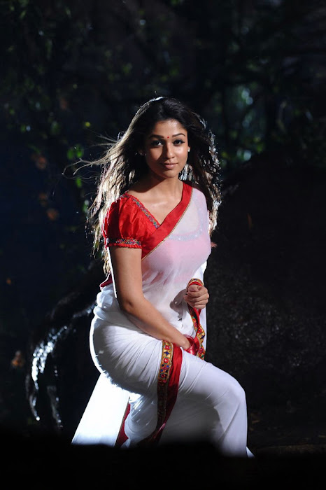 nayanthara in saree spicy unseen pics