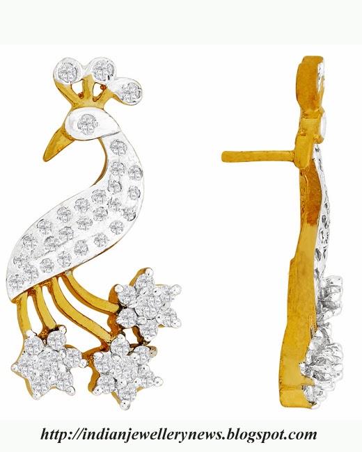 peacock diamond earring set