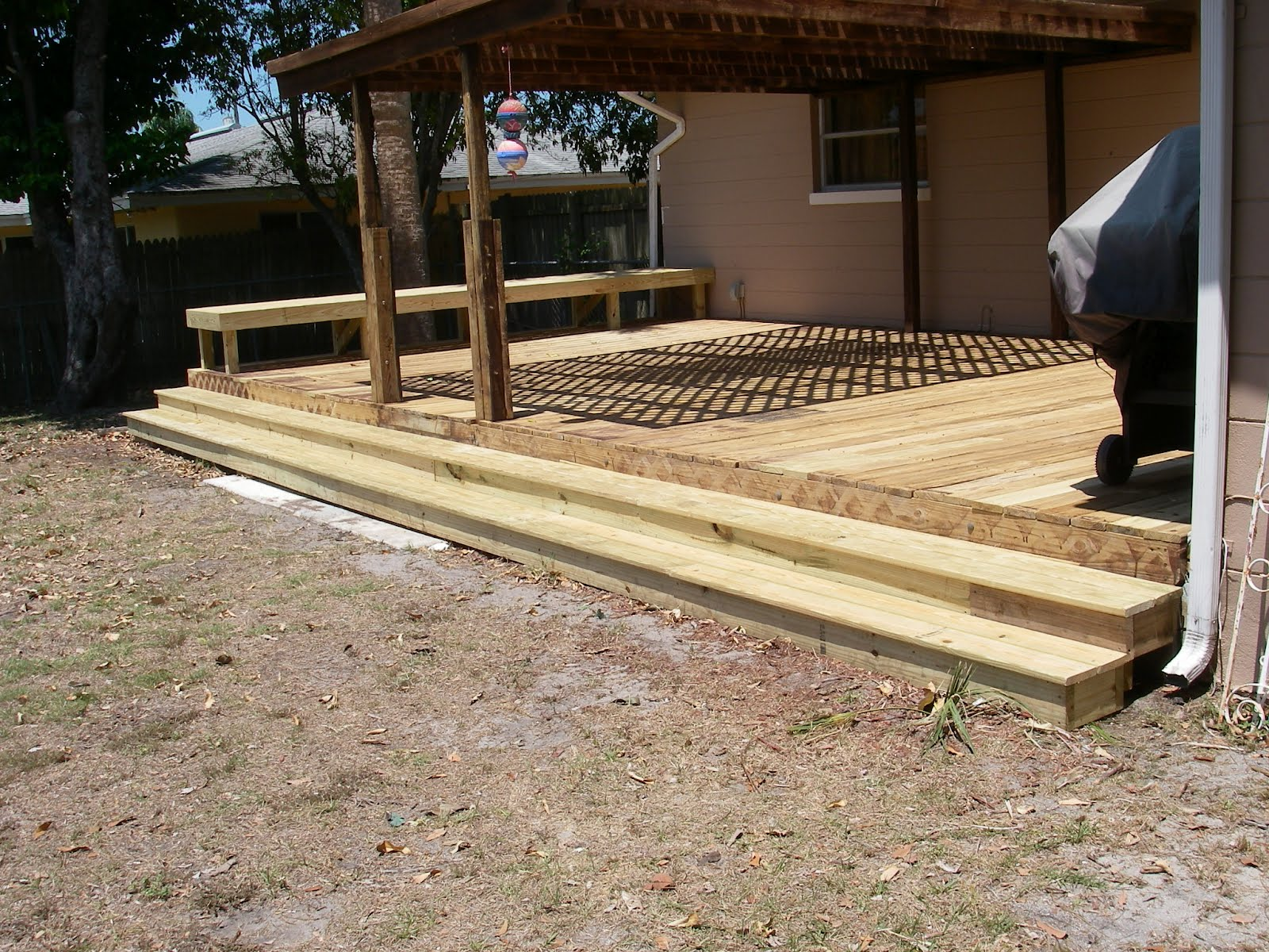 how to build box steps on a deck