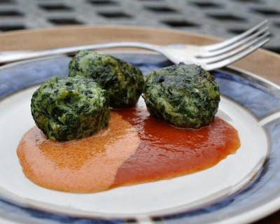 Spinach Ricotta Gnocchi with Creamy Tomato Sauce