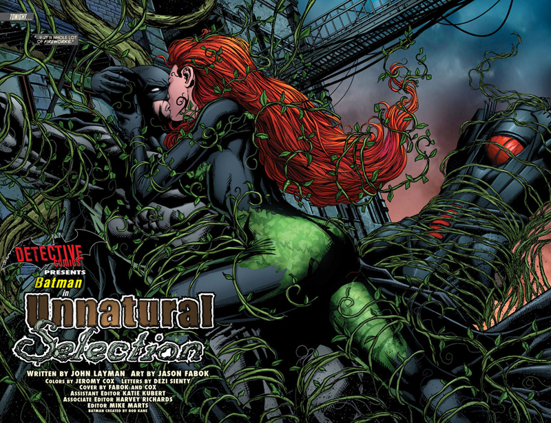 daily splash page slash option batman and poison ivy