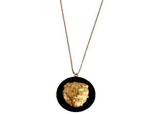 sautoir médaillon lion - idée cadeau femme