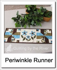 Periwinkle Table Runner Free Tutorial at Freemotion by the River