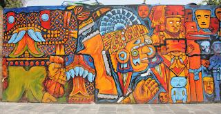 Parte 1 del mural en México DF