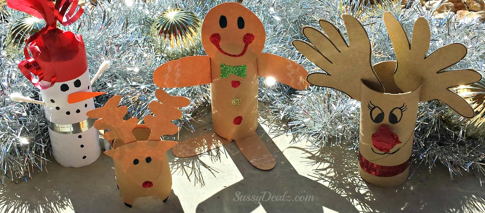 Diy christmas toilet paper roll craft ideas for kids for Paper art projects
