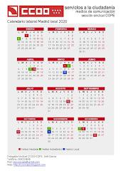 Calendario laboral Madrid local 2020