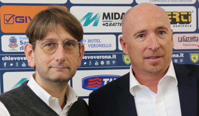Il tecnico Maran e il presidente Campitelli (foto: chievoverona.it)