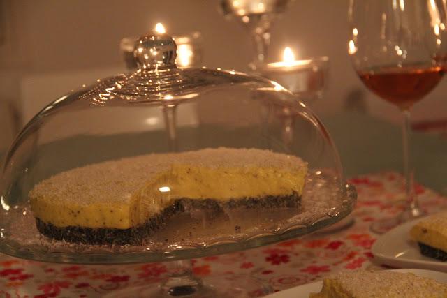 torta, cake, mango, mak, poppy, raw, presnp, nuts free
