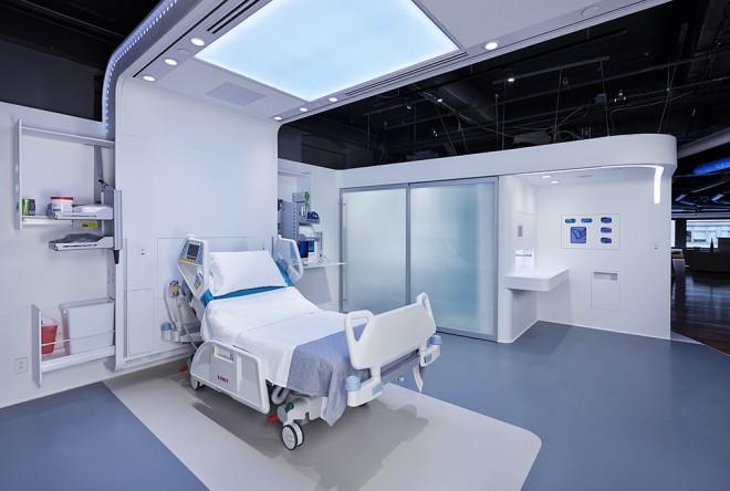 Camilla e instalaciones medicas