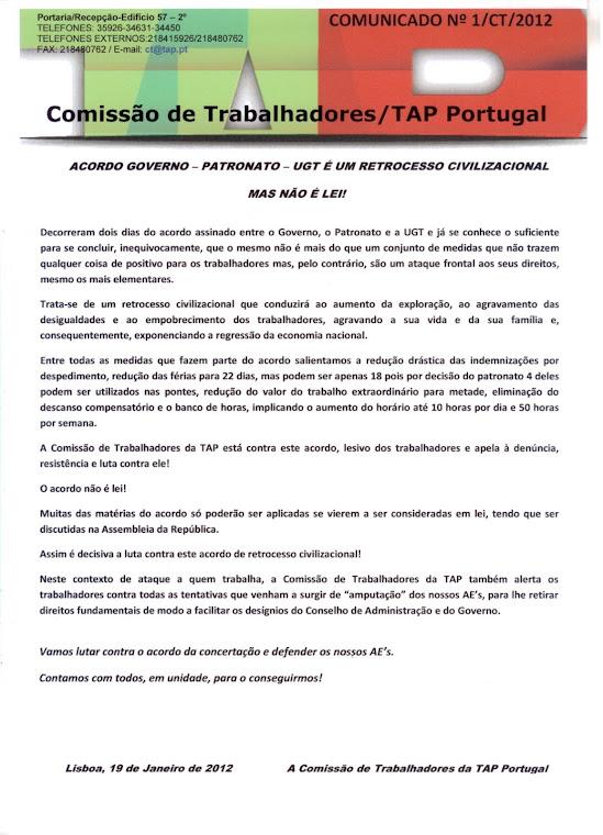 Comunicado 01/2012