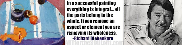 richard diebenkorn quote in a successful painting everything...