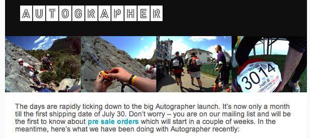 AUTOGRAPHER pre sale order