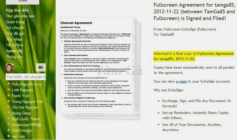 Kiểm tra xác nhận tài khoản với FullScreen