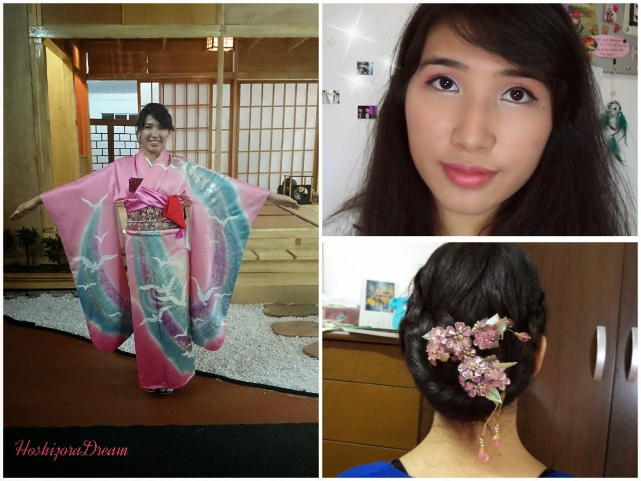 Hoshizora Dream Kimono Makeup And Hair Tutorial