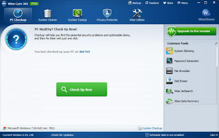 WiseCare 365 pc checkUp screen Shot