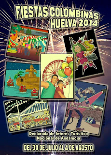 Huelva - Fiestas Colombinas 2014 - Cartel de Asociación Seis Viñetas