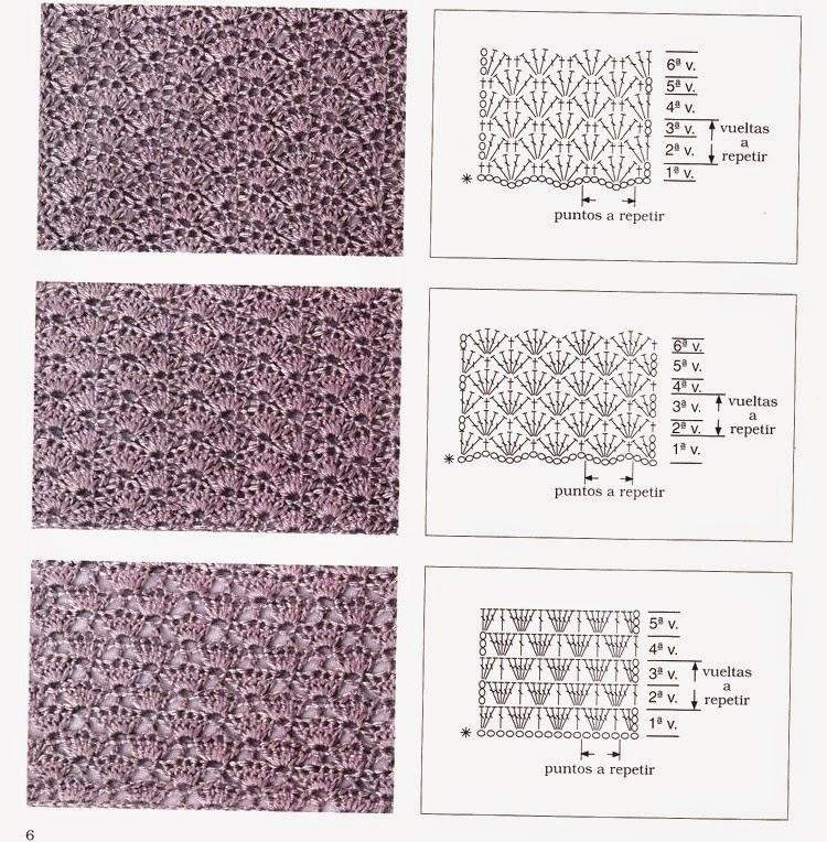 Схемы вязания не плотных узоров крючком
