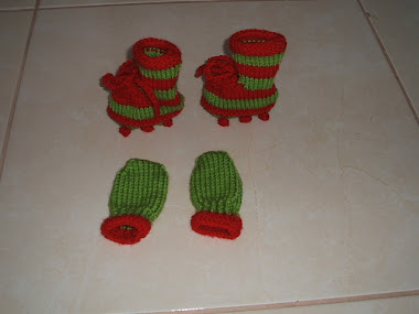 mittens and booties