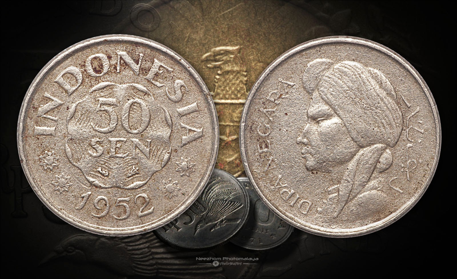 Indonesia old coin 50 Sen 1952