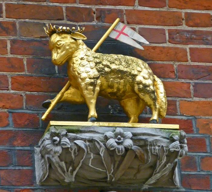 Paschal lamb, agnus Dei, lamb of God, Middle Temple, Knights Templar, Lamb and Flag