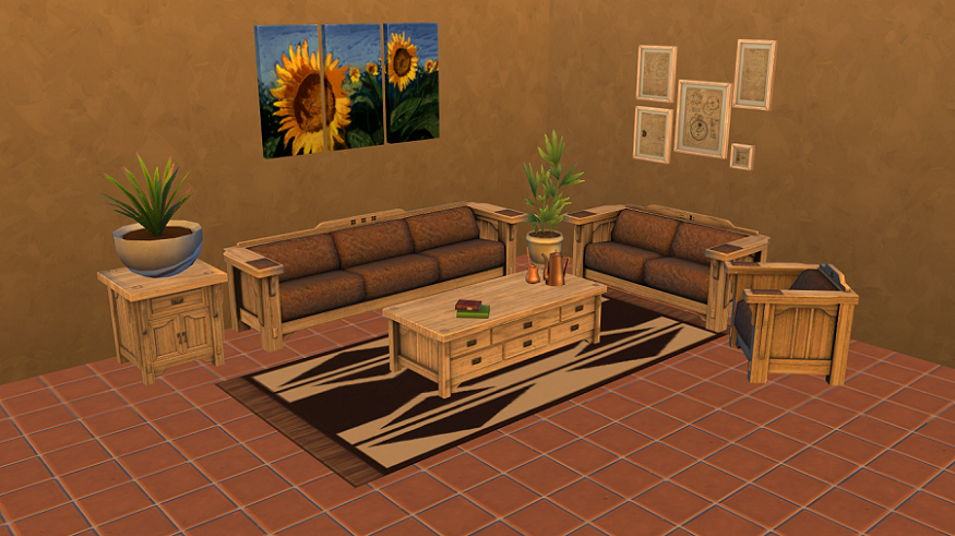 my sims 4 blog the sims 3 mission style living room set
