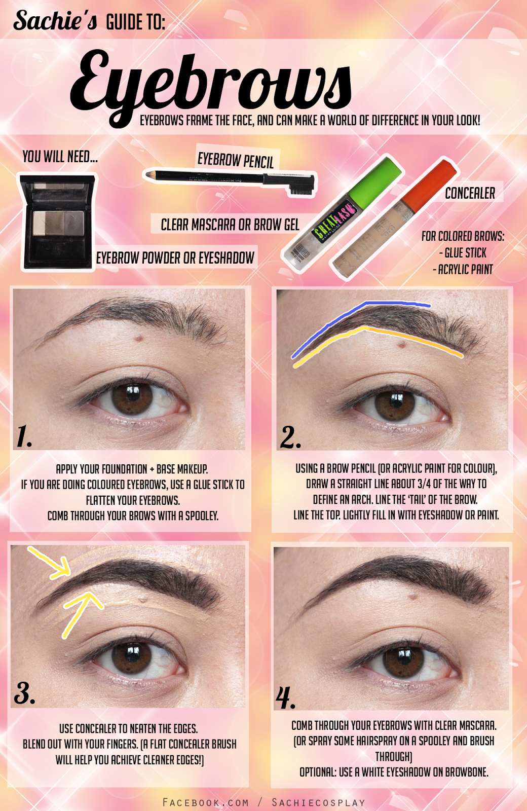 Tutorial brows enlarging eye makeup for cosplay lovely complex eyebrow tutorial products used etude house baditri Gallery