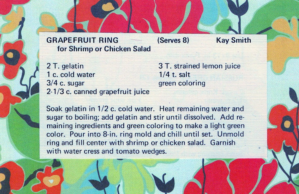 Grapefruit Ring (quick recipe)
