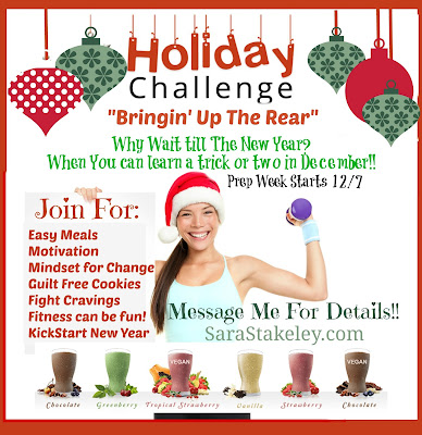 "Holiday Challenge,""Bringin' Up The Rear"" December Challenge Group, Sara Stakeley"