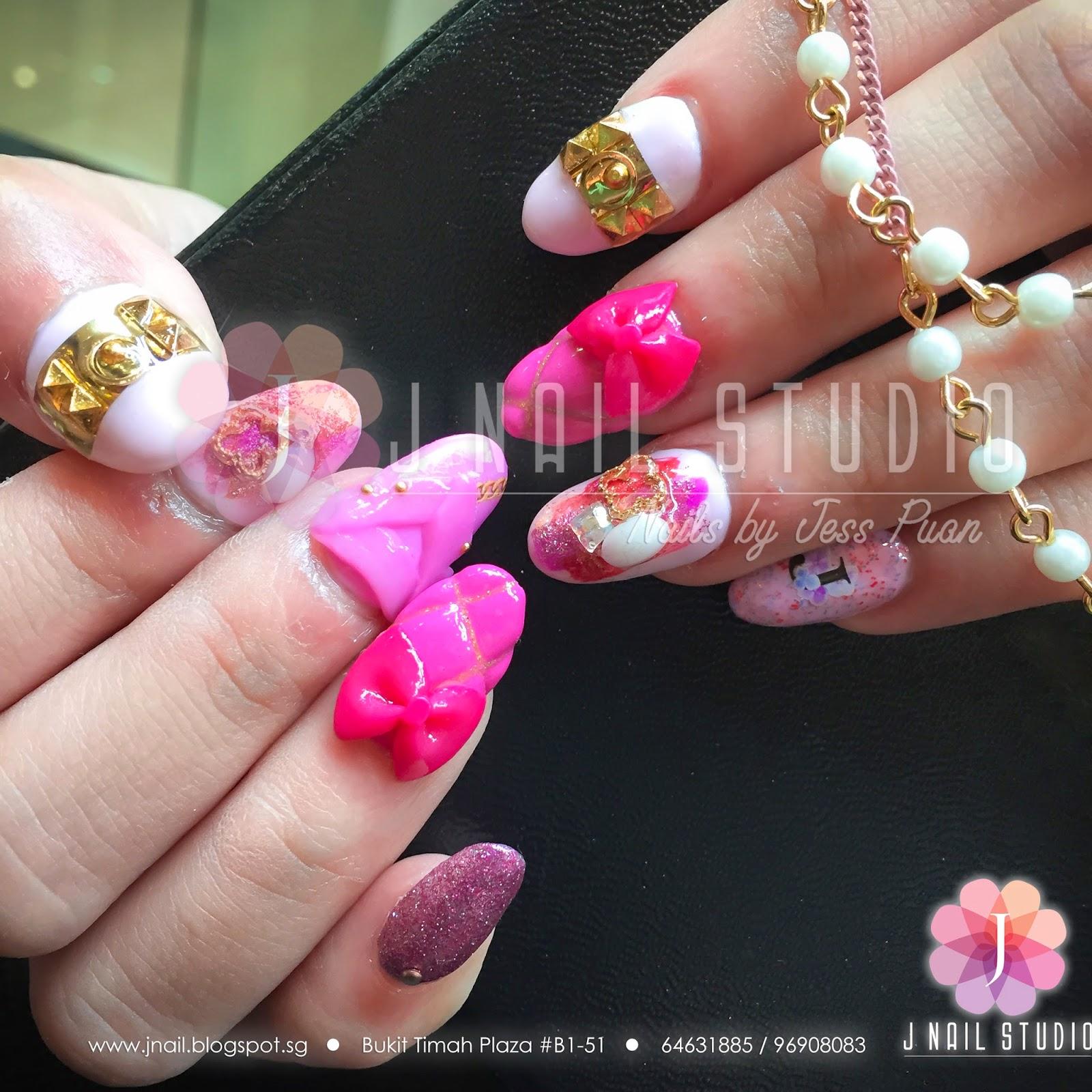 J Nail Studio: Collier de Chien Barbie Nails